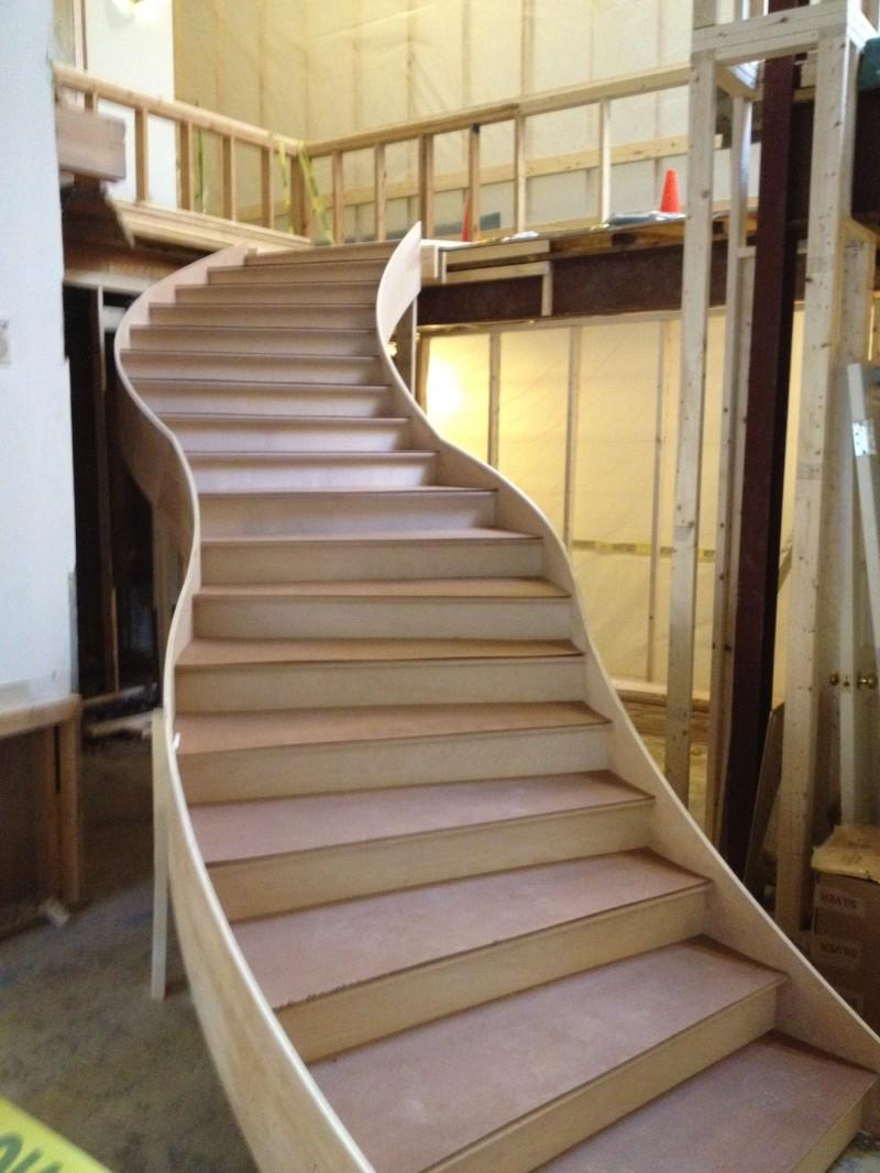 Lobby renovation – new stairs